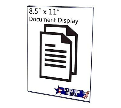 Wall Mount Ad Frame, Sign Holder 8.5 x 11 Inches, Clear Acrylic (Lot of 6)