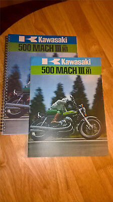 Kawasaki 1974 1975 H1E H1F 500 Triple Parts Manuals & Brochure.