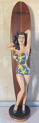 vintage figure pin up resin football jersey bath surf 88 cm