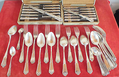 homemaker silver plated metal model Louis XV 57 parts