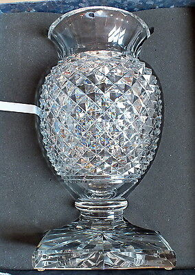 large vase Saint Louis crystal carved Medicis 40 cm