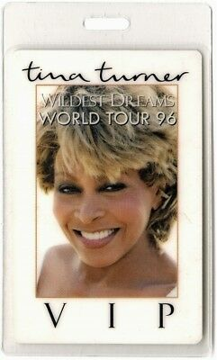 Tina Turner authentic 1996 concert Laminated Backstage Pass Wildest Dreams Tour