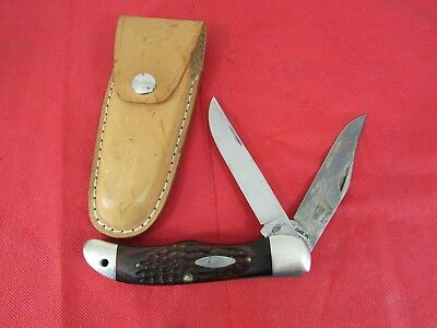Vintage Case XX 6265 SAB USA Folding 2 Blade Hunting Knife - Hunter's - 5 Dot