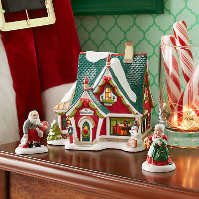 Dept 56 North Pole Series Village Home For the Holidays Gift Set 3 pc 4059382