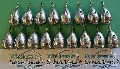 17 X Size 6oz (168gms) australian made bass casting pear bomb reef sinkers