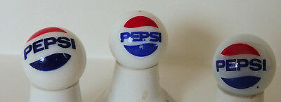 "Three Old, Pepsi, "" Book end Logo,""  Large Glass, Shooter Marbles, All Alike, Ne"