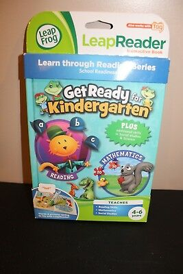 Leap Frog Leap Reader Book Get Ready for Kindergarten School Readiness 4-6 Yrs