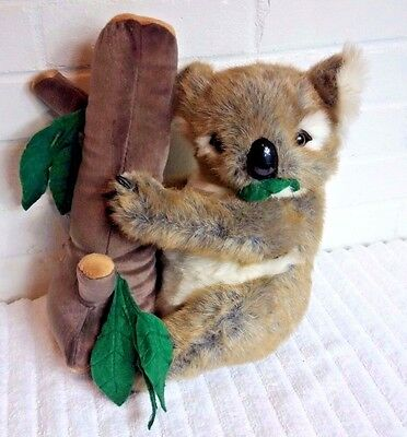 Animal Planet Clinger Koala Stuffed Animal Plush Hugging a Eucalyptus Tree  (A6)