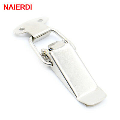 4PC NAIERDI-J105 Cabinet Box Locks Spring Loaded Latch Catch Toggle 27*63 Iron