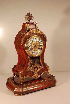 Fine Antique French Boulle Mantel Clock On Stand c.1870