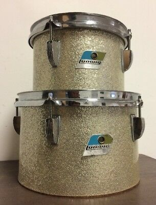 """Vintage Ludwig 8"""" + 10"""" Concert Toms - Made in USA"""