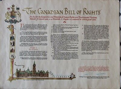 Copy  of  The Canadian Bill of Rights 1960