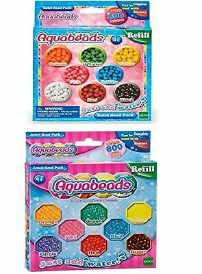 Aquabeads Multicoloured Solid Bead Pack and Jewel Bead Pack (multi colour) Bu...