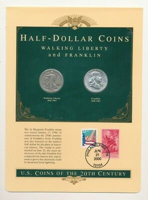 20th Century US Coins (2) Silver Half Dollar Coins Exact Shown - FREE Shipping