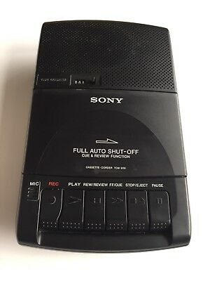 Sony Cassette Corder TCM-939 Tape Player - Built in Mic