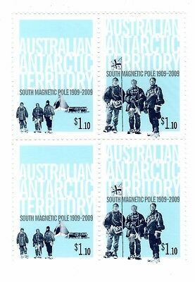 2009 AAT South Magnetic Pole block 4 x $1.10 stamps