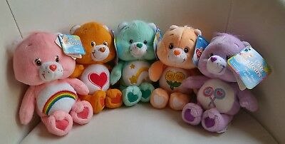 Lot of 5 Care Bears Plush 2002 with Tag.   Approximately 8""