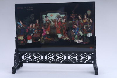 "Ancient Chinese Painting  ""Twelve girls in Dream of the Red Mans ""Screen Scroll"