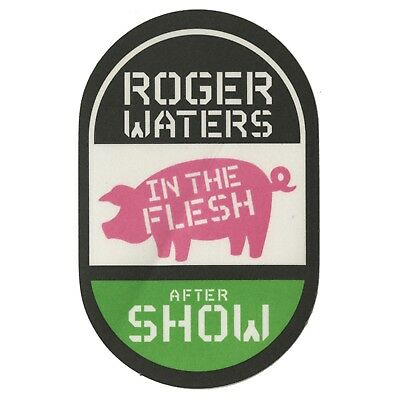 Roger Waters authentic Aftershow 1999-2002 tour Backstage Pass