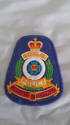 rare pre 1985 Queensland police shoulder patch- obsolete