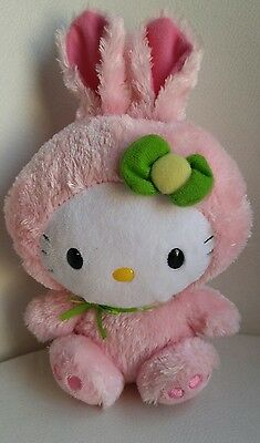 TY Beanie Babies Hello Kitty Plush Pink Bunny Rabbit Approximately 8""