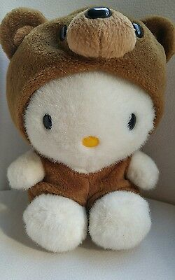 """Hello Kitty in Bear Outfit Plush Approximately 7"""""""