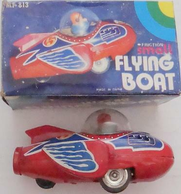 "Unused 5""  Small 3 Wheeled  Friction Flying Boat In Original Box"