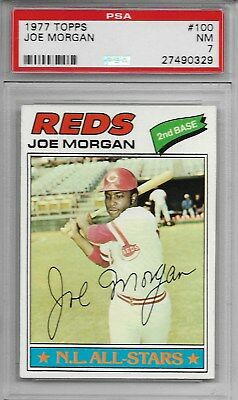 (PSA 7 Graded) JOE MORGAN 1977 Topps #100 REDS Big Red Machine ESPN NR-Mint (NM)