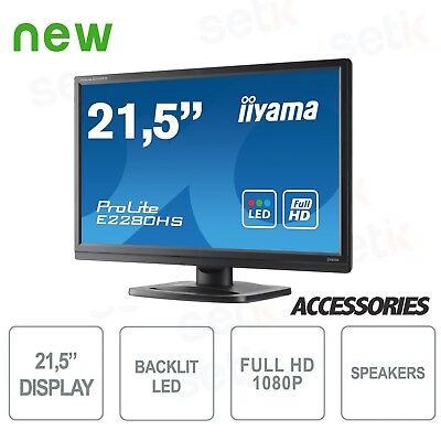 "Monitor ProLite 21,5"" Full HD - DVI - HDMI - Speaker - Attacco Vesa - IIYAMA - E"