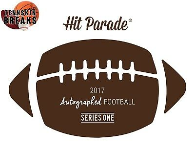 PITTSBURGH STEELERS 2017 Hit Parade Series 1 AUTOGRAPHED FOOTBALL 1BOX Break