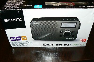 Sony DAB+ Digital Radio XDR-S60DBP - Boxed.White/Silver  NEW Condition