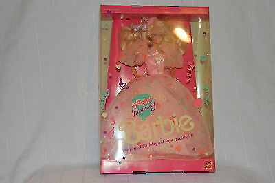 1990 Happy Birthday Barbie Doll with a Collector stand. New box not opened