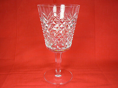 """Waterford Crystal Alana 7"""" Water Goblet Wine Glass England Excellent!"""