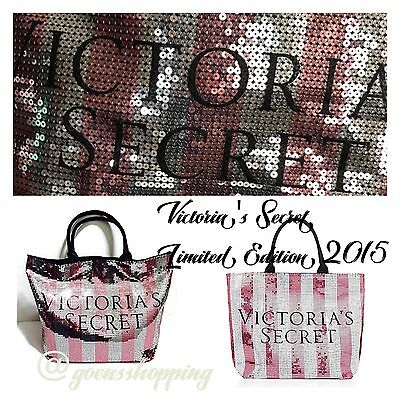 f84d7f589155 Victoria's Secret RARE 2015 Black Friday Pink and Silver Bling Tote Bag NIP