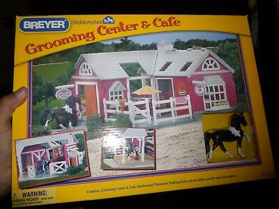 Breyer stablemates grooming center & cafe playset 59201 new in box sealed