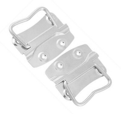 """2 Pcs Toolbox Storage Boxes Stainless Steel Puller 4"""" Chest Handles"""