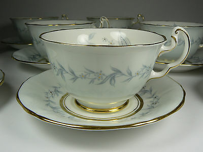 Northumbria Morning Mist Pale Blue Cup & Saucer Hand Painted FBC England