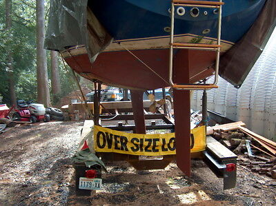 Heavy duty twin axle sailboat trailer