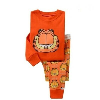 Kids Boys sleepwear set 2T Baby Garfield pajamas nightclothes Role play clothing