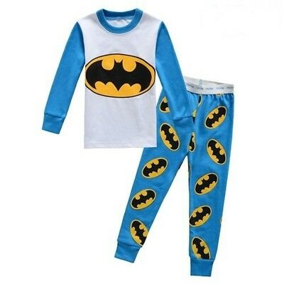 2017 new listing kids Boys pajamas set 3T Batman The New sleepwear nightclothes
