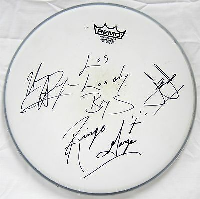 LOS LONELY BOYS authentic autographed DRUM HEAD band signed 2006 concert tour