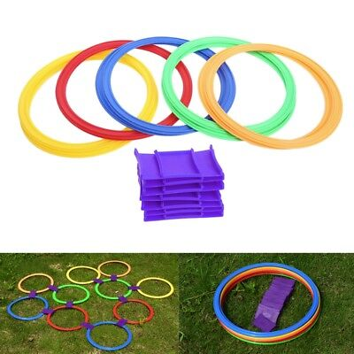Kids Children Outdoor Hoop Rings Jump Ability Training Jumping Toy