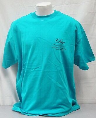 Cher Concert Crew Shirt 2002 Living Proof Farewell Tour NEVER WORN XL local