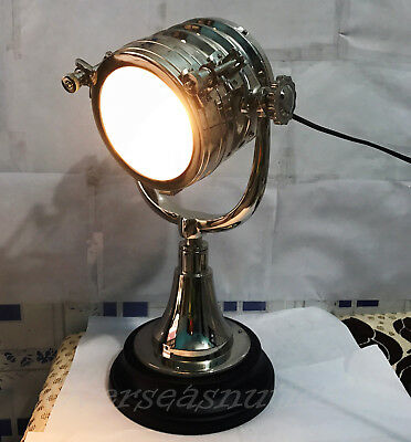 Designer Chrome Antique Style Lamp Tabletop Floor Lamp Searchlight Decorative