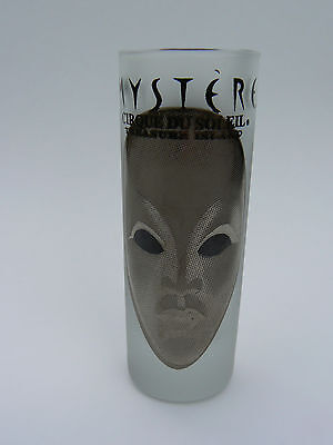Cirque du Soleil Mystere Treasure Island Frosted Glass Shot Glass 2.5 oz