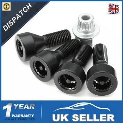LOCKING WHEEL BOLTS NUTS SET FOR BMW 1,3,5,6 Series E46 E87 E60 E90 36136786419