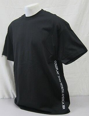 Coldplay official Crew Shirt 2005 X & Y Concert Tour NEVER WORN XL staff black