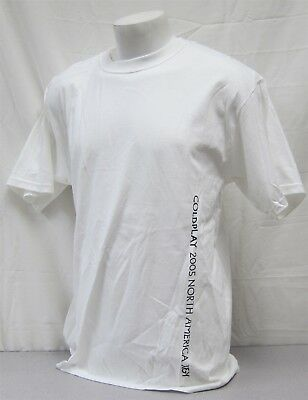 Coldplay official Crew Shirt 2005 X & Y Concert Tour NEVER WORN XL staff white