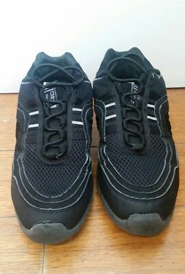 BLOCH Black Split Sole Dance Sneakers Jazz Runners Shoes Adult Women Size 8 US