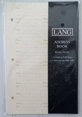"Lang Address Book Refill Pages - 24 pages, 5"" x 8""  0113100 Multiship Discount!"